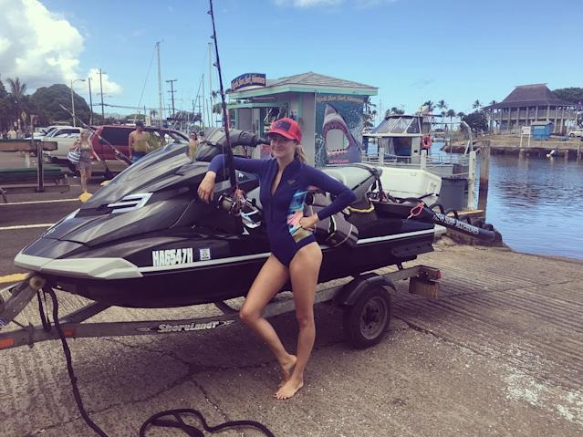 "<p>The <em>Big Little Lies</em> star and activist looked pretty good as she added a Jet Ski to her weekend plans. (Photo: <a href=""https://www.instagram.com/p/BUqMvNUl8mG/"" rel=""nofollow noopener"" target=""_blank"" data-ylk=""slk:Shailene Woodley via Instagram"" class=""link rapid-noclick-resp"">Shailene Woodley via Instagram</a>) </p>"