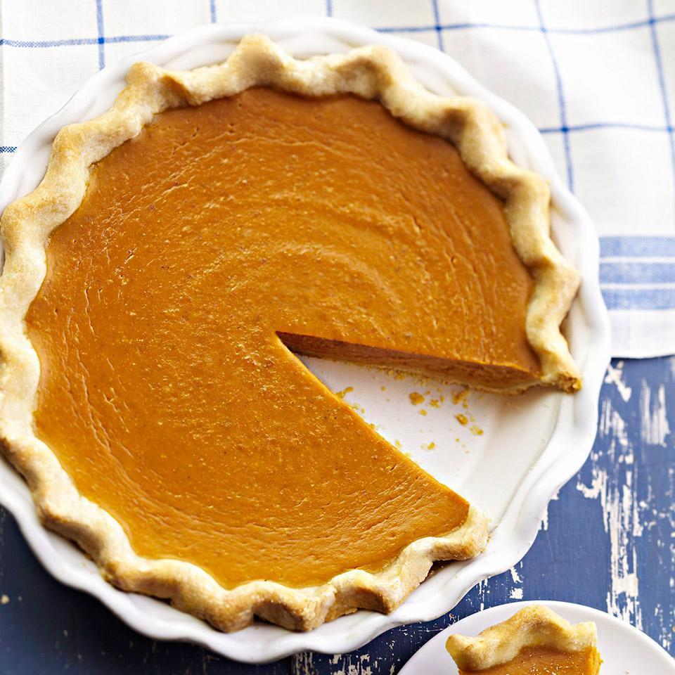 <p>Get the classic creamy pumpkin taste but less saturated fat and sugar with this lightened-up recipe.</p>