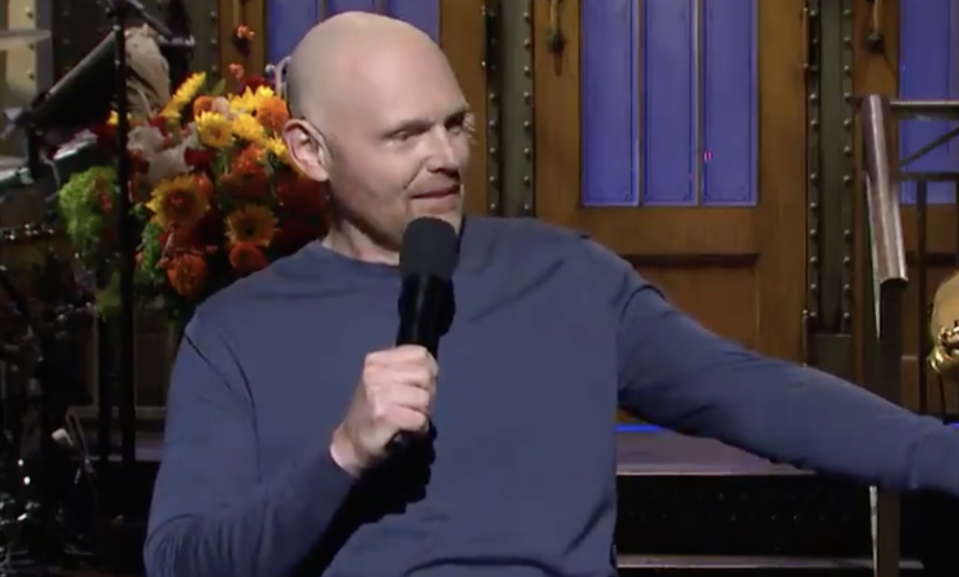 SNL host Bill Burr made some controversial jokes during his opening monologue. (Photo: NBC/Twitter)