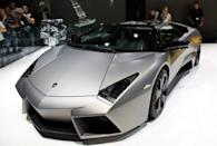 <p>Limited to just 20 production cars sold to the public, the Reventon rePresents the future of Lamborghini design. Its style, both inside and out, is inspired by stealth military jets.</p>