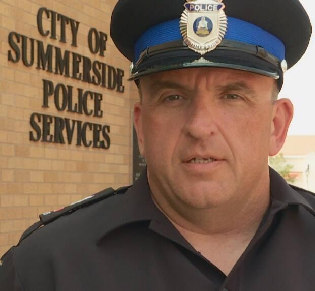 Sgt. Jason Blacquiere of the Summerside Police says the force wants to locate the man in the grey minivan to check his intentions. (Tom Steepe/CBC - image credit)