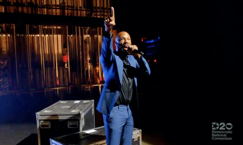 Common performs during a livestream of the 2020 Democratic National Convention on Aug. 20, 2020. (Photo: DNCC via Getty Images)
