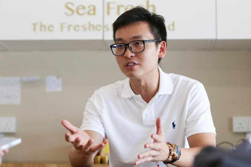 Lim Yew Ping, co-owner of seafood e-retail platform Sea Fresh, was one of the earliest users of Facebook Live to auction fish directly to customers. — Picture by Choo Choy May