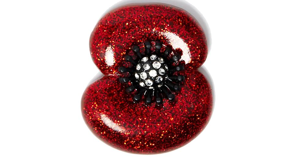 The Poppy Collection Glitter Poppy Brooch