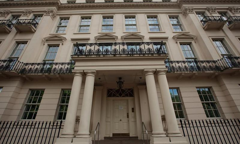 The facade of the palatial 2-8a Rutland in London.