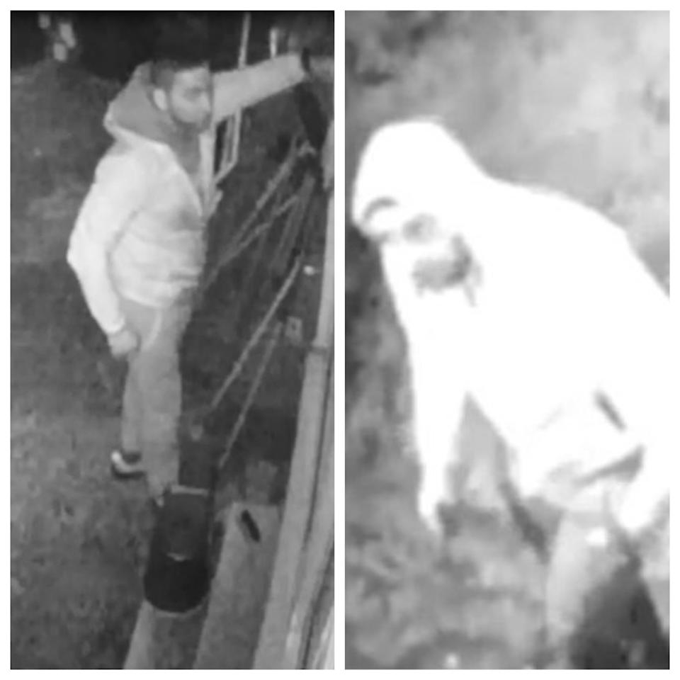 CCTV stills of two of the suspects