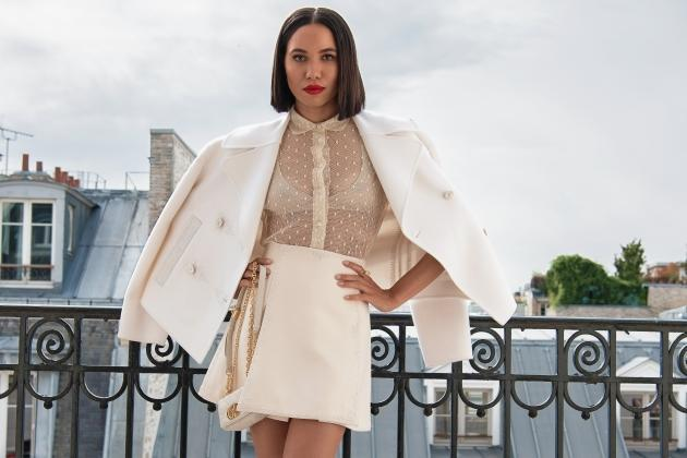 Jurnee Smollett Gets Ready for Dior With Mary Oliver, a Snatched Waist and Rooftop Pics
