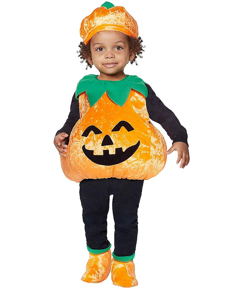 Kids Pumpkin Costume. Image via Spirit Halloween.