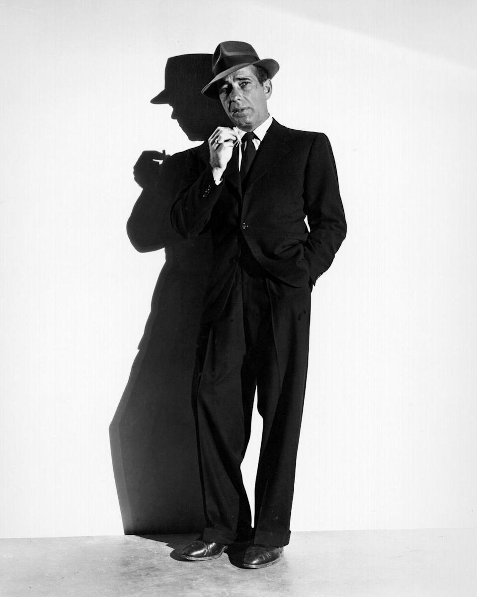 <p>Bogart was in seven movies the year he turned 40, but his biggest hits (like <em>Casablanca</em>) were still a few years away. At the time, he was married to his third wife, Mayo Methot, who divorced him in 1945. Bogart then married Lauren Bacall. In 1949, he became a father for the first time. </p>