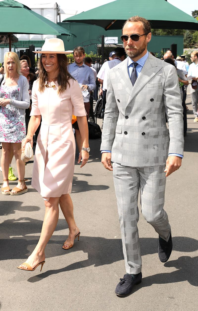 Pippa Middleton and brother James. (Photo by Philip Toscano/PA Images via Getty Images)