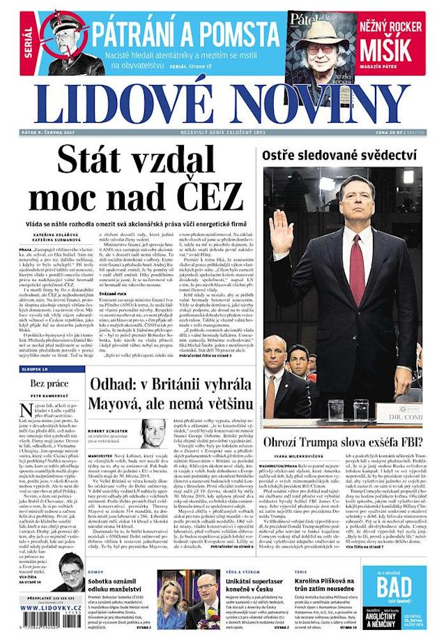 "<p>""Lidove Noviny,"" published in Prague, Czech Republic. (Newseum) </p>"