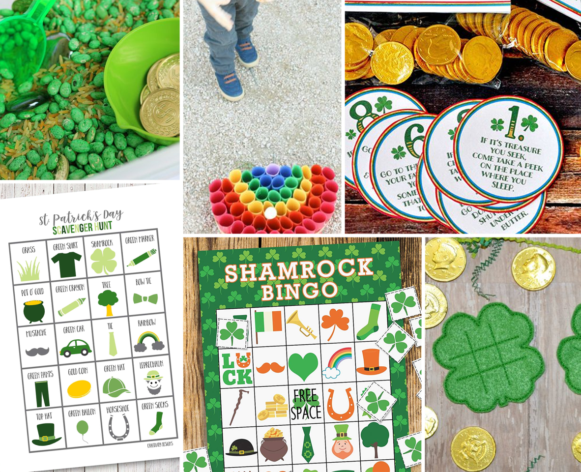 "<p><a href=""https://www.goodhousekeeping.com/st-patricks-day-ideas/"">St. Patrick's Day</a> can be tricky to celebrate with families — most of the activities closely associated with the holiday are for those over 21. However, much like <a href=""https://www.goodhousekeeping.com/holidays/g3264/green-drinks/"" target=""_blank"">our favorite non-alcoholic green drinks</a>, there's definitely a way that all ages can get in on the fun. These St. Patrick's Day games are sure to keep the kids occupied, and once they're tired out from playing, you can sit back, relax, and press play on <a href=""https://www.goodhousekeeping.com/life/entertainment/g26252481/best-irish-movies/"">an Irish film that the whole family can enjoy</a>.</p><p>Some kids may prefer to spend time making <a href=""https://www.goodhousekeeping.com/holidays/g1019/st-patricks-day-crafts/"">crafts like Pot of Gold Mason Jars</a>, but if you're dealing with a rowdier bunch, or you're just trying to kill time <a href=""https://www.goodhousekeeping.com/holidays/g26235518/fun-st-patricks-day-activities/"" target=""_blank"">before the parade</a>, there are plenty of fun games that you can set up from supplies you probably already have in your house. Here are all of the different puzzles, color pages and St. Patrick's Day Games that kids will love  — plus, we've thrown in one for the adults, too.</p>"