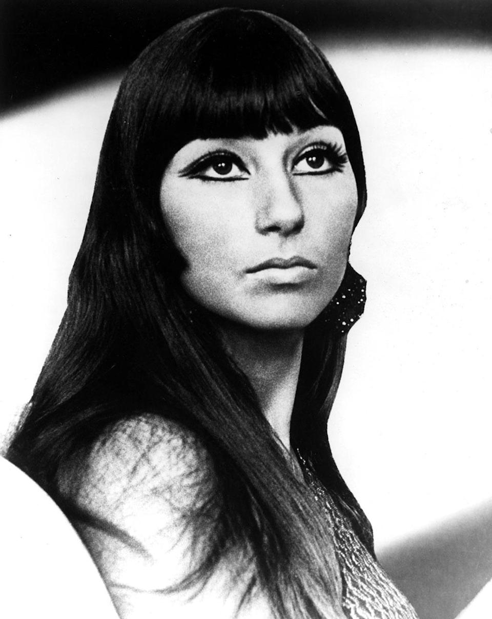 <p>Cher, in this undated 1970s photo, owned the decade with her thick lashes and dark, winged liner. <i>(Photo: Everett Collection)</i></p>