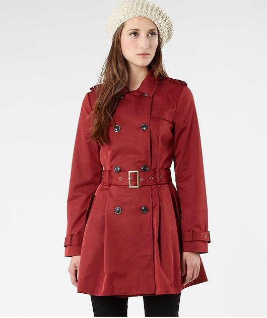 A mac is perfect for in-between-season dressing and this nice number comes in a burnt red, a little like Kate Middleton's.   £53, debenhams.com