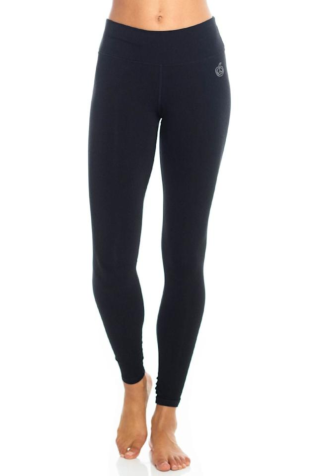 """<p>The <a href=""""https://www.popsugar.com/buy/Evolve-Green-Apple-Bamboo-Legging-541559?p_name=Evolve%20Green%20Apple%20Bamboo%20Legging&retailer=evolvefitwear.com&pid=541559&price=78&evar1=fit%3Aus&evar9=47113390&evar98=https%3A%2F%2Fwww.popsugar.com%2Fphoto-gallery%2F47113390%2Fimage%2F47120549%2FEvolve-Green-Apple-Bamboo-Legging&list1=healthy%20living%2Ceco%2Cfitness%20gear&prop13=api&pdata=1"""" rel=""""nofollow"""" data-shoppable-link=""""1"""" target=""""_blank"""" class=""""ga-track"""" data-ga-category=""""Related"""" data-ga-label=""""https://evolvefitwear.com/bamboo-legging-black"""" data-ga-action=""""In-Line Links"""">Evolve Green Apple Bamboo Legging</a> ($78) is made of a mix of organic cotton and bamboo with a smooth silhouette and supportive waistband.</p>"""