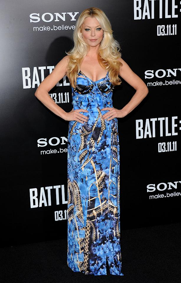 """<a href=""""http://movies.yahoo.com/movie/contributor/1800207721"""">Charlotte Ross</a> at the Los Angeles premiere of <a href=""""http://movies.yahoo.com/movie/1810119633/info"""">Battle: Los Angeles</a> on March 8, 2011."""