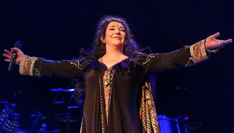 At recent performances, Kate Bush told fans she wanted contact with them not their phones (Rex)