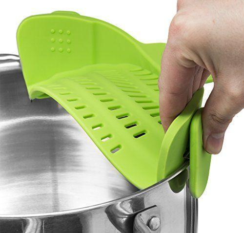 """<p><strong>Kitchen Gizmo</strong></p><p>amazon.com</p><p><strong>$16.99</strong></p><p><a href=""""https://www.amazon.com/dp/B018W9JII0?tag=syn-yahoo-20&ascsubtag=%5Bartid%7C10050.g.24700158%5Bsrc%7Cyahoo-us"""" rel=""""nofollow noopener"""" target=""""_blank"""" data-ylk=""""slk:Shop Now"""" class=""""link rapid-noclick-resp"""">Shop Now</a></p><p>No more digging around for the colander! This compact, BPA-free attachment is perfect for pasta lovers with limited storage. </p>"""