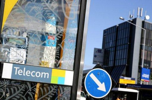 A sign for Telecom New Zealand in Auckland