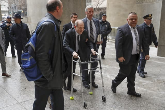 Harvey Weinstein arrives at court in New York