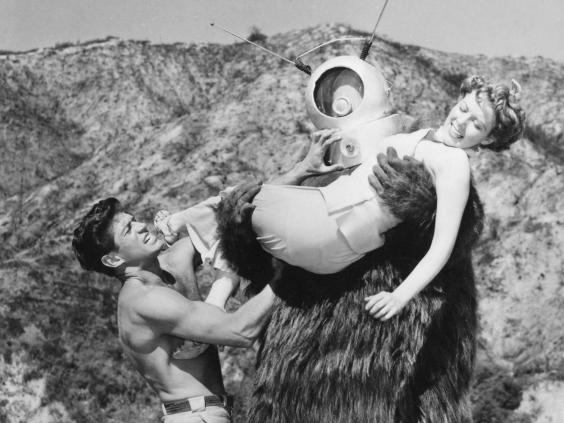 George Nader and Claudia Barrett in Phil Tucker's Robot Monster (Three Dimensional/Kobal/Rex)