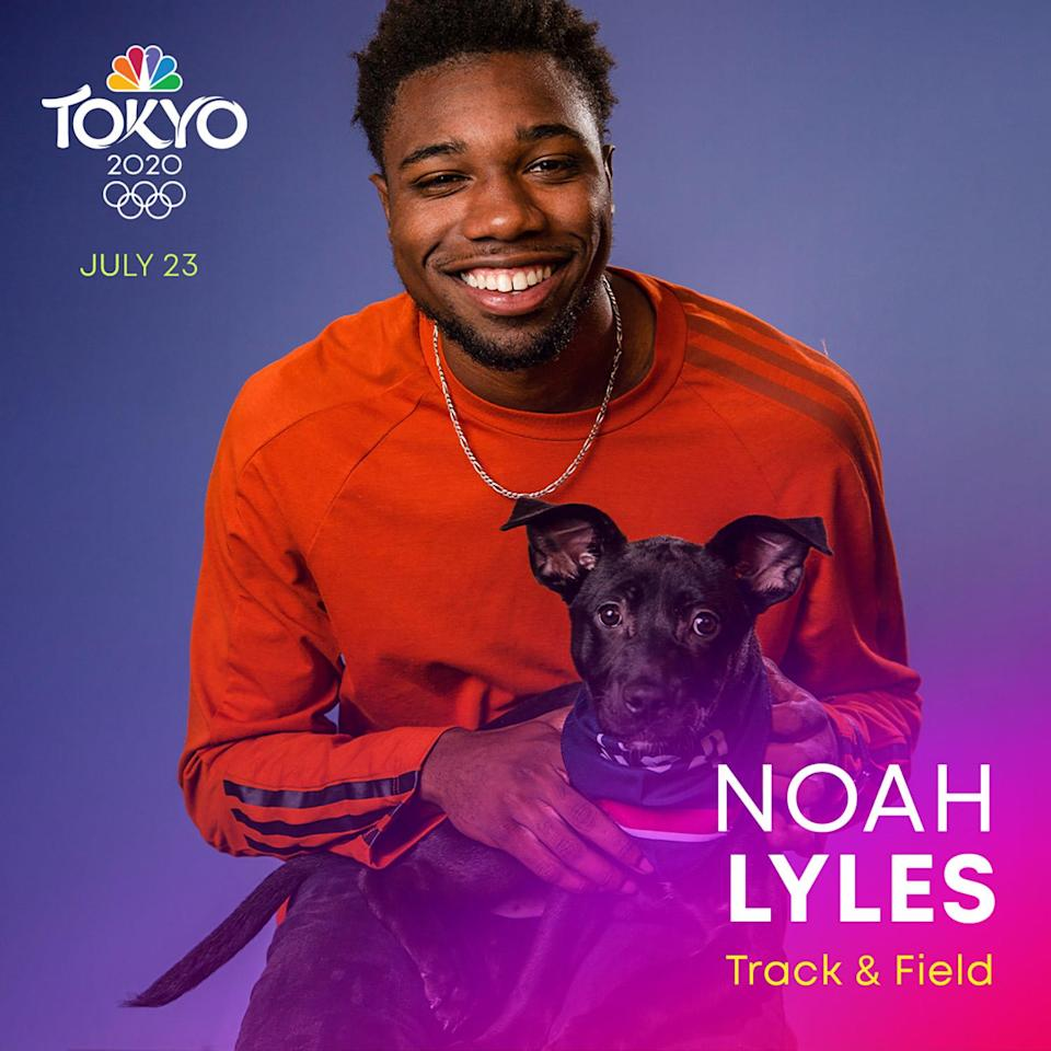 <p>Lyles is a world champion sprinter, taking home the gold in the 200-meter dash and the 100-meter relay at the 2019 World Athletics Championships. Now, he is working to bring that speed and success to the Toyko Summer Olympics.</p>