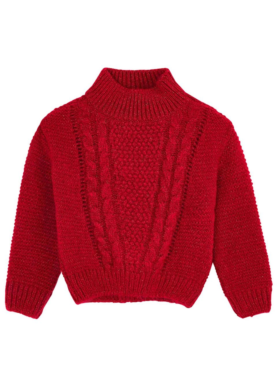 "<p><strong>Mayoral</strong></p><p>https://www.bergdorfgoodman.com</p><p><strong>$48.00</strong></p><p><a href=""https://www.bergdorfgoodman.com/p/mayoral-boys-chunky-cable-knit-sweater-size-4-8-prod159750358"" rel=""nofollow noopener"" target=""_blank"" data-ylk=""slk:Shop Now"" class=""link rapid-noclick-resp"">Shop Now</a></p>"