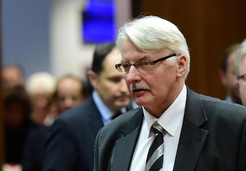 Poland's Foreign Minister Witold Waszczykowski, pictured here in Brussels, on December 14, 2015, told public radio that the NATO centre had lost their rights to confidential documents