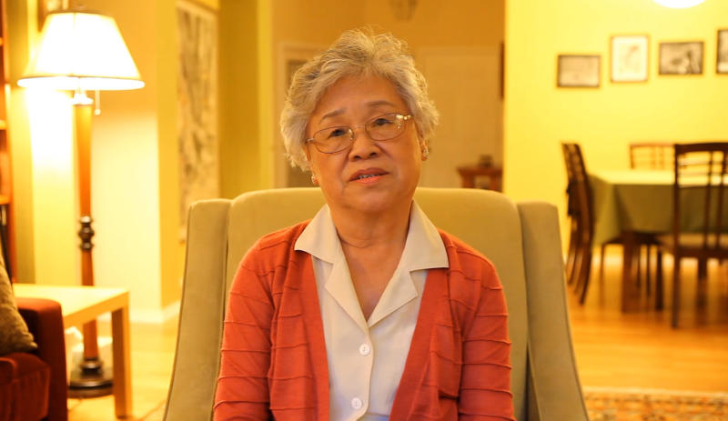 In this still frame from an undated video released Thursday, Oct. 10, 2013 by the family of Kenneth Bae, Bae's mother, Myunghee Bae, talks about her upcoming trip to North Korea to visit her son, Kenneth Bae, a 45-year-old tour operator and Christian missionary who was arrested last November while leading a group of tourists in the northeastern region of Rason in North Korea. Myunghee Bae has arrived in Pyongyang and was scheduled to meet with her son on Friday morning local time, Bae's sister Terri Chung told The Associated Press. (AP Photo/Courtesy Terri Chung)