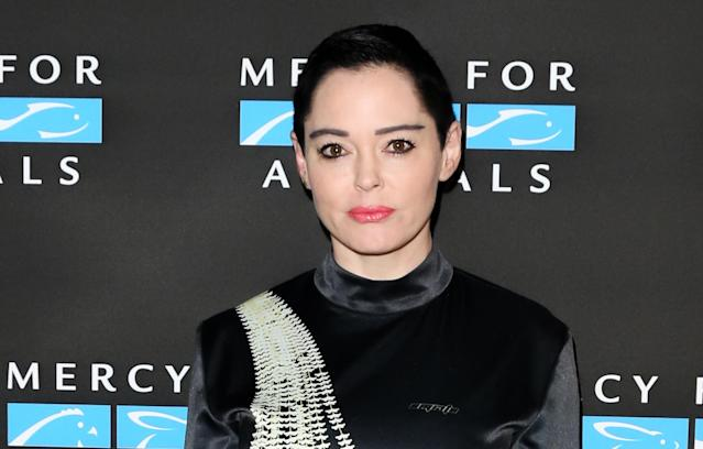 "<p>The <i>Scream</i> star is one of the eight women whom Weinstein allegedly settled with; however, she has not stayed silent in the wake of the <i>Times</i> article. ""Ladies of Hollywood, your silence is deafening,"" McGowan tweeted, calling men who have worked with Weinstein ""weak and scared"" to come forward. ""Agents, managers, Directors, casting agents, producers, distributors, SAG, DGA, PGA, Studio heads, Network = 30 year cover up,"" she claims. The <i>Charmed</i> star <a href=""https://www.yahoo.com/entertainment/actress-rose-mcgowan-calls-entire-103350145.html"" data-ylk=""slk:has called on the Weinstein board;outcm:mb_qualified_link;_E:mb_qualified_link"" class=""link rapid-noclick-resp newsroom-embed-article"">has called on the Weinstein board</a> to ""resign effective immediately."" (Photo: Paul Archuleta/FilmMagic) </p>"