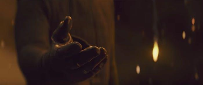 Kylo (Adam Driver) offers his hand to Rey. (Photo: Lucasfilm)