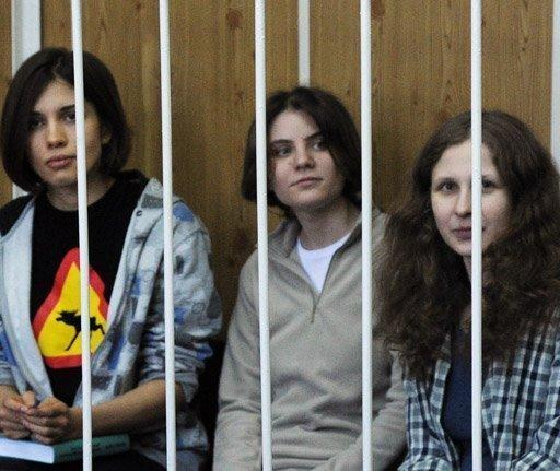 The anti-Putin punks are on trial on hooliganism charges for a protest against President Vladimir Putin in February 2012