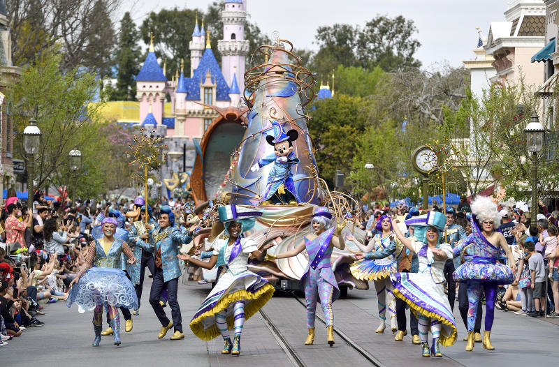 ANAHEIM, CA - FEBRUARY 27: The new Magic Happens Parade on Main Street U.S.A. inside Disneyland in Anaheim, CA, on Thursday, Feb 27, 2020. (Photo by Jeff Gritchen, Orange County Register/SCNG)