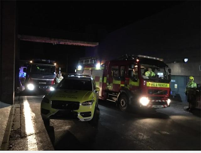 The boy was taken to hospital after being freed (County Durham and Darlington Fire and Rescue)