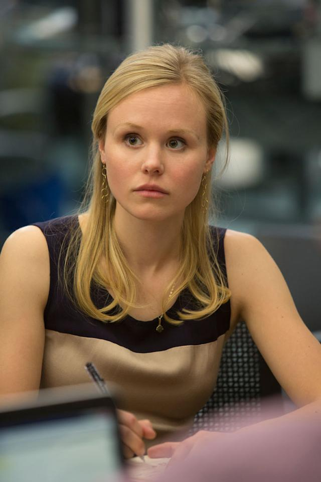 "Alison Pill in HBO's ""The Newsroom"" Season 2 Premiere, ""First Thing We Do, Let's Kill All the Lawyers."""