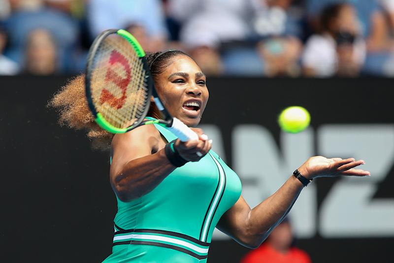 67eead048e0b Serena Williams  Bright Green Jumpsuit   Fishnets Are the Talk of  Australian Open