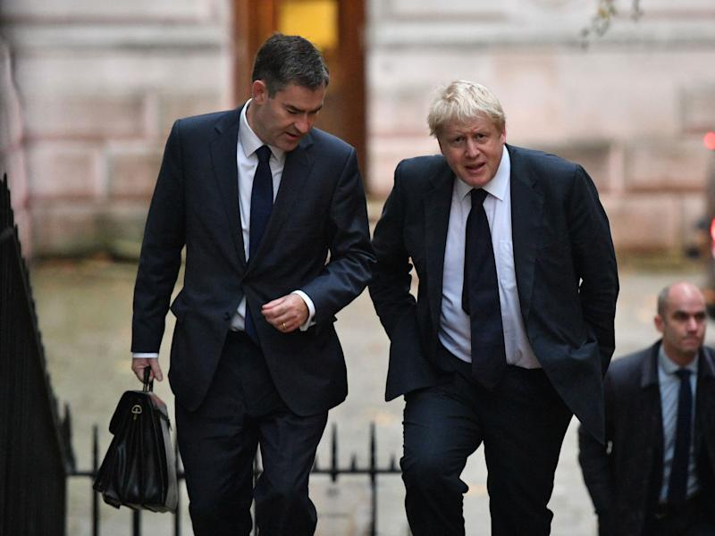 Justice secretary David Gauke, left, has said he won't work under Boris Johnson (Picture: PA)