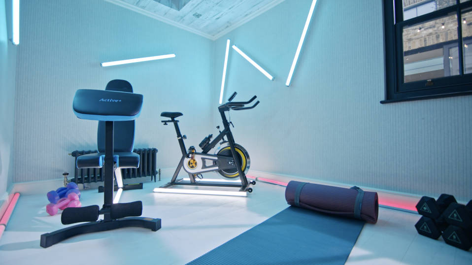 The property is fitted with its own gym