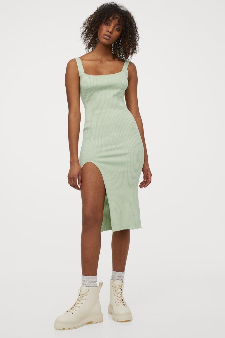 <p>This stretchy <span>H&amp;M Ribbed Dress</span> ($25) is easy to dress both up and down.</p>
