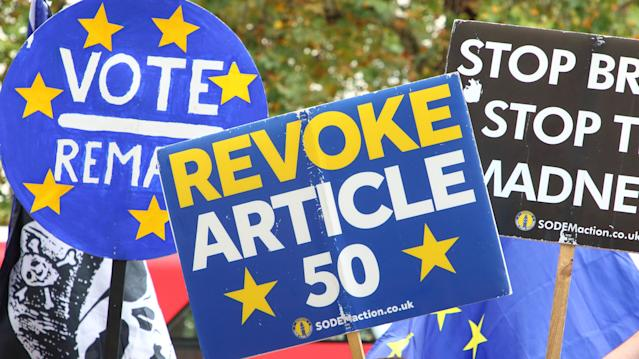 Campaigners had hoped to stop Brexit altogether (AP)