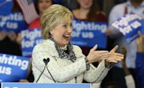 <p>Democratic presidential candidate former Secretary of State Hillary Clinton greets supporters at an event on Saturday in Columbia, S.C.<i> (Photo: Win McNamee/Getty Images)</i></p>