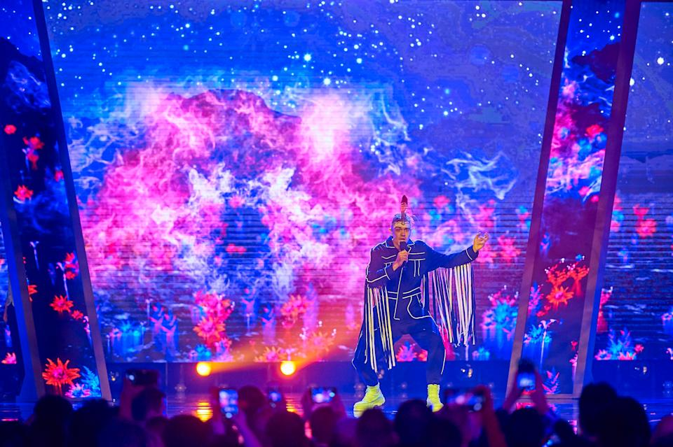 Mitch Tambo performs on Friday February 7 at Eurovision - Australia Decides on the Gold Coast.  (Photo: KSKENNAR)