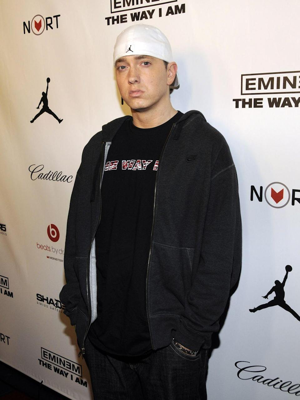"<p>While promoting his 2010 album, <em>Recovery, </em>Eminem told <em><a href=""https://www.accessonline.com/articles/eminem-talks-overcoming-prescription-drug-addiction-86955"" rel=""nofollow noopener"" target=""_blank"" data-ylk=""slk:Access Hollywood"" class=""link rapid-noclick-resp"">Access Hollywood</a></em> about a close encounter he had: ""I had overdosed in 2007, like, right around Christmas in 2007…I pretty much almost died. I pulled through and went home and relapsed less than a month later and I literally shot back up to the amount of pills I was taking, shot right back up to where I overdosed."" He says he eventually got tired of living that way and decided to ""take responsibility for the way I'm living and stop blaming other people.""</p>"