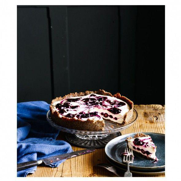 "<p>Cashew nuts and coconut oil give the creamy texture to our dairy-free 'cheesecake'. You won't believe there's no cream cheese in it!</p><p><strong>Recipe: <a href=""https://www.goodhousekeeping.com/uk/food/recipes/a552929/dairy-free-blueberry-cheesecake/"" rel=""nofollow noopener"" target=""_blank"" data-ylk=""slk:Vegan Blueberry Cheesecake"" class=""link rapid-noclick-resp"">Vegan Blueberry Cheesecake</a></strong></p>"