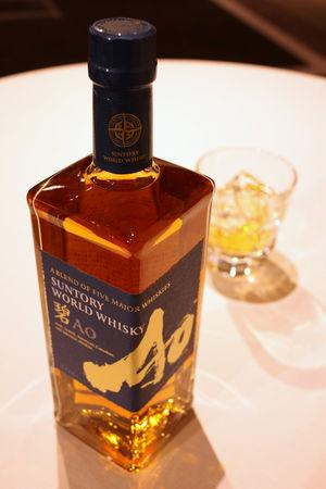 Ao, Suntory's high-end world whisky, is pictured at its promotional event in Tokyo, Japan April 4, 2019. Picture taken on April 4, 2019. REUTERS/Ritsuko Ando