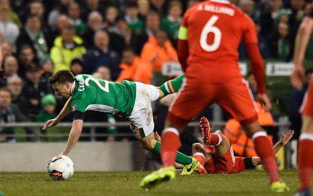 <span>Taylor was shown a straight red for a shocking tackle on Seamus Coleman</span> <span>Credit: reuters </span>