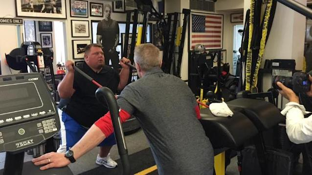 Former NFL quarterback Jared Lorenzen is serious about getting back into shape. (The Jared Lorenzen Project)