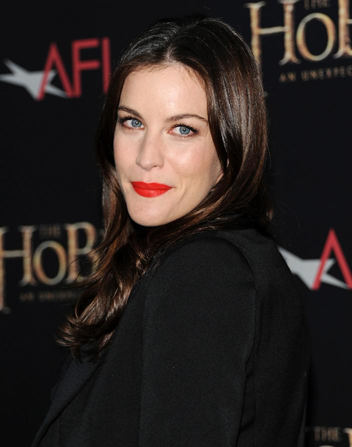 """Actress Liv Tyler attends the premiere of """"The Hobbit: An Unexpected Journey"""" at the Ziegfeld Theatre on Thursday Dec. 6, 2012 in New York. (Photo by Evan Agostini/Invision/AP)"""