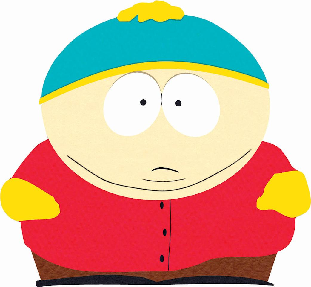 Eric Cartman (voiced by Trey Parker) stars in South Park on Comedy Central.
