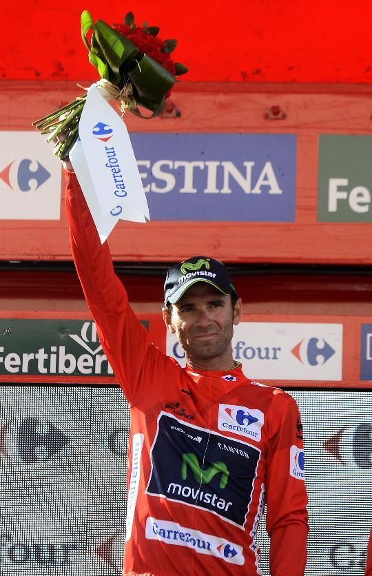 Cycling - Valverde wins 6th stage, leads Tour of Spain